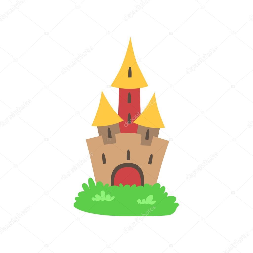 1024x1024 Fairytale Castle Drawing Stock Vector Topvectors