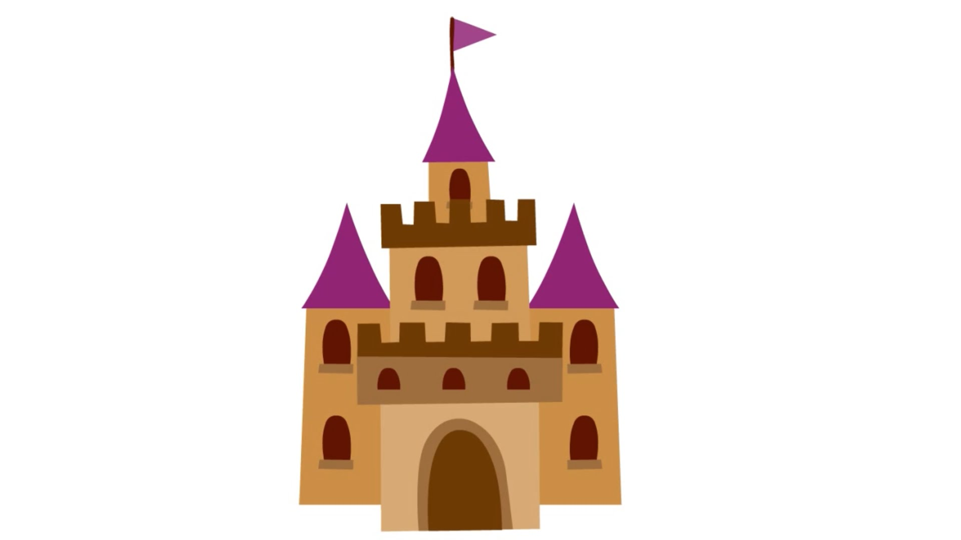 1920x1080 Simple Castle Pictures To Color How Draw A Step By In Less Than 2