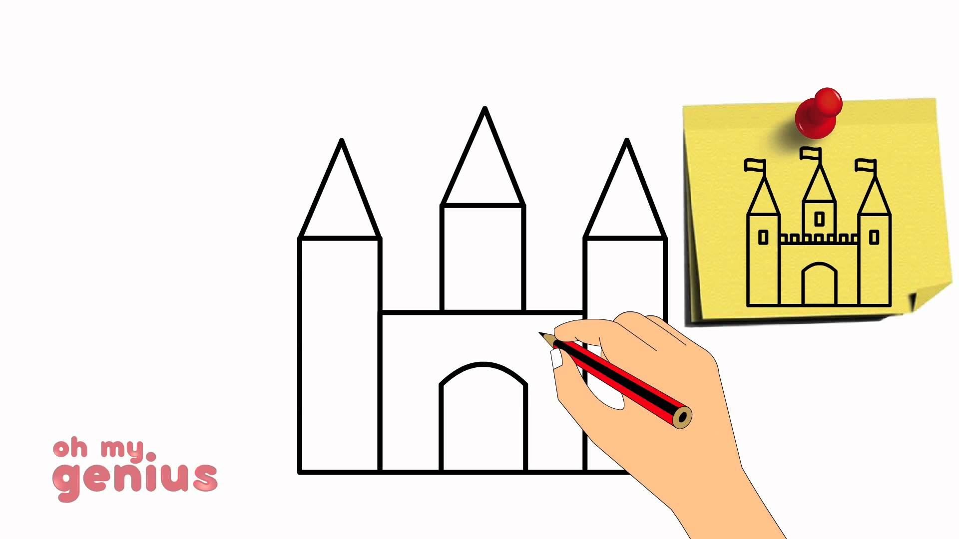 1920x1080 Simple Drawing Of A Castle How To Draw A Castle