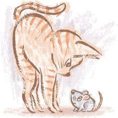 236x236 Cat And Mouse By Toru Sanogawa, Via Behance Cats