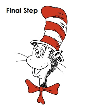 300x388 How To Draw Cat In The Hat