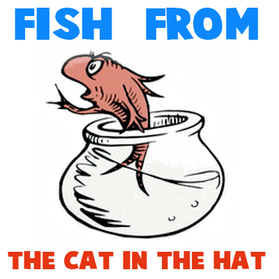 400x400 How To Draw The Fish From The Cat In The Hat Dr. Seuss Book Fish