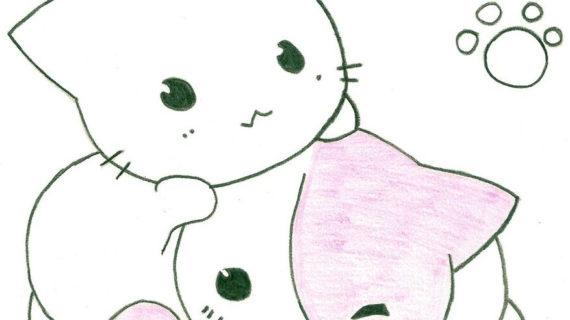 570x320 Anime Cat Drawings Cute Anime Cat Drawing Cats Are Soooo Cute
