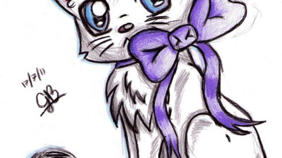 570x320 Cute Cat Drawings Cute Anime Cat Drawings Chibi Cat Drawing