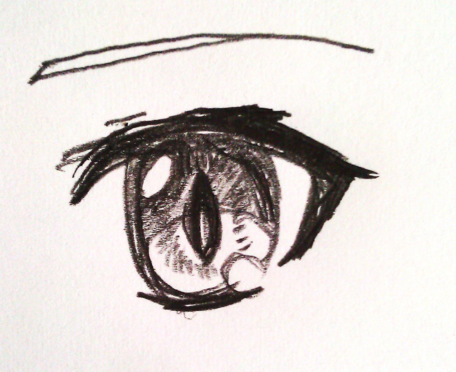 1456x1188 Drawing Anime Eye Cat Eye Version