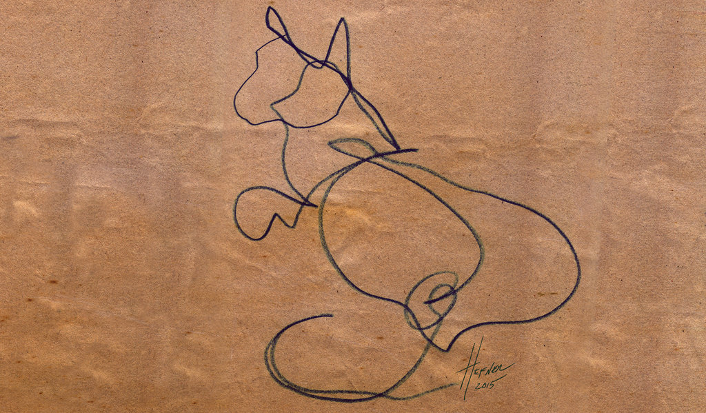 Blind Contour Line Drawing Definition : Cat contour drawing at getdrawings free for personal use