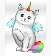 210x230 Cat Unicorn Drawing Posters Redbubble