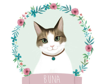 340x270 Custom cat drawing Etsy