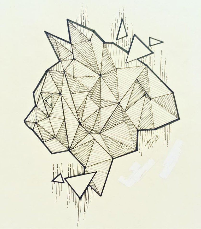 838x954 Geometric Cat Drawing By Arexx Luiz