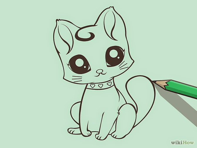 670x503 drawing of a cartoon cat