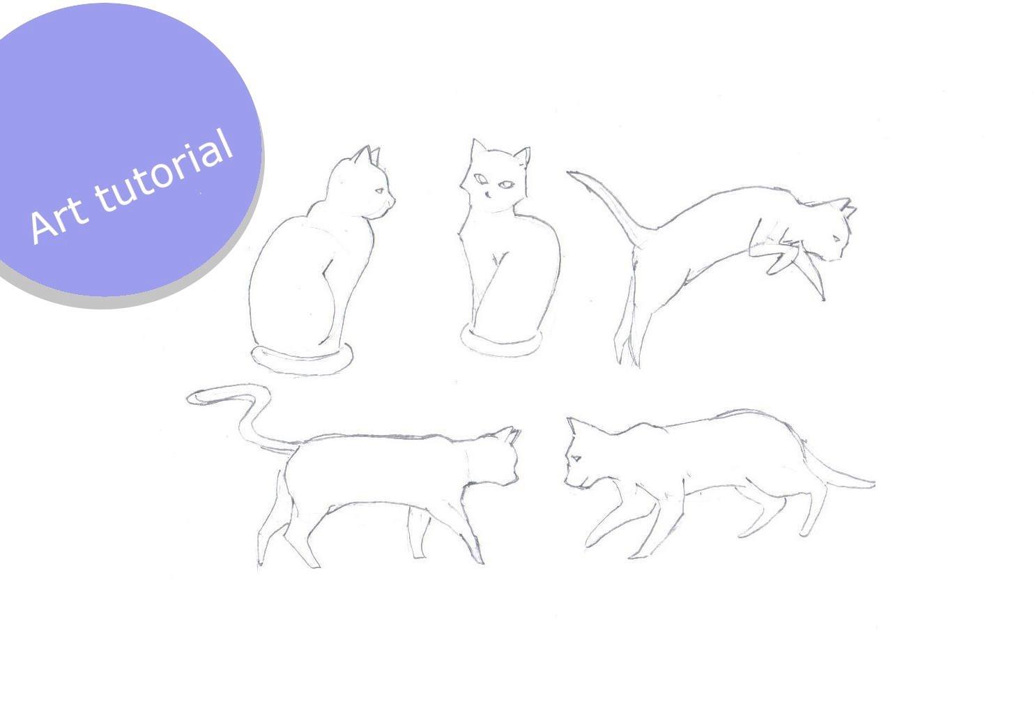 1482x1010 Cat 7 Poses (Art Tutorial)