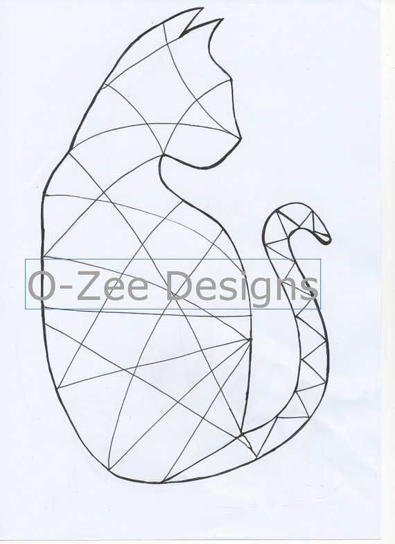 570x784 Cat Zentangle Template Pdf A4 By Ozeedesigns On Etsy