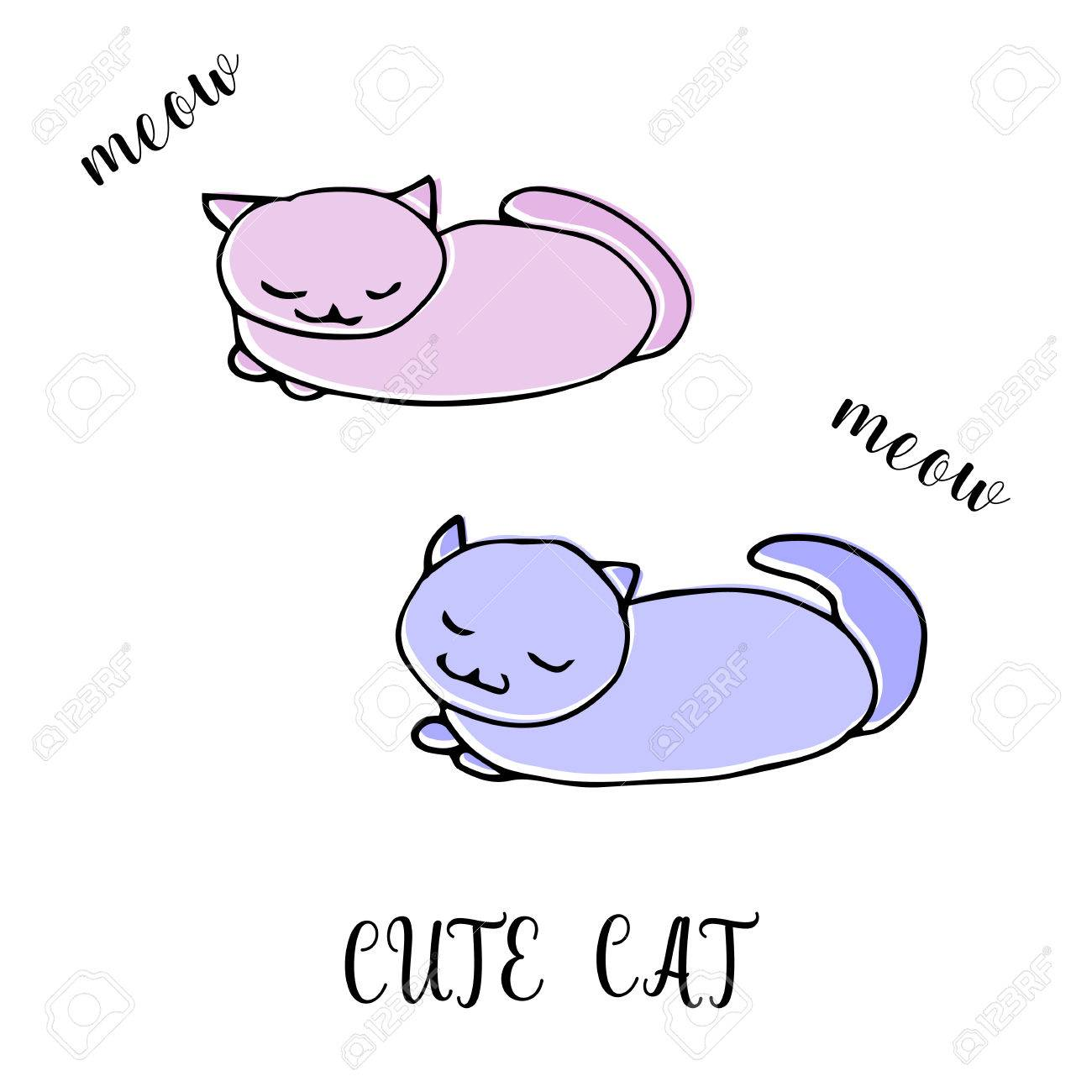 Cat Drawing Template At Getdrawings Free For Personal Use Cat