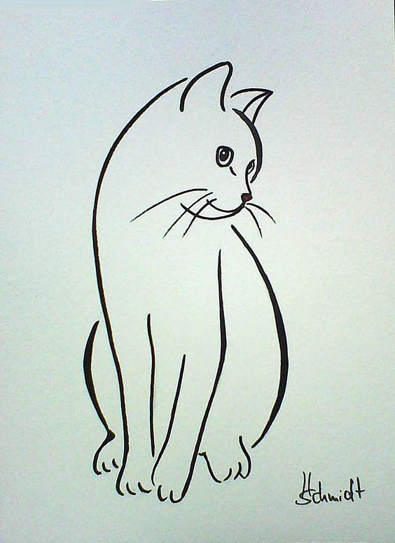 564x776 Diy Cat Silhouette Pillow Cases Cat Outline Tattoo, Cat