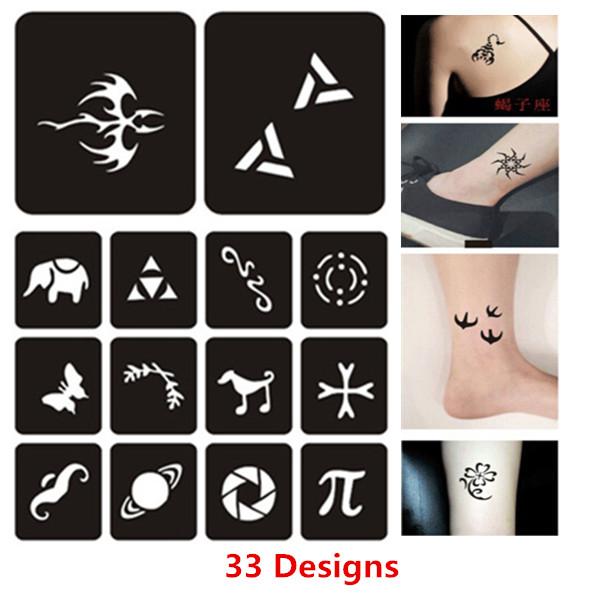 600x600 33 Designsset Small Henna Tattoos Stencils Woman Female Kids Cute