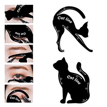 355x355 Lke 2 In 1 Cat Eyeliner Stencil,matte Pvc Material