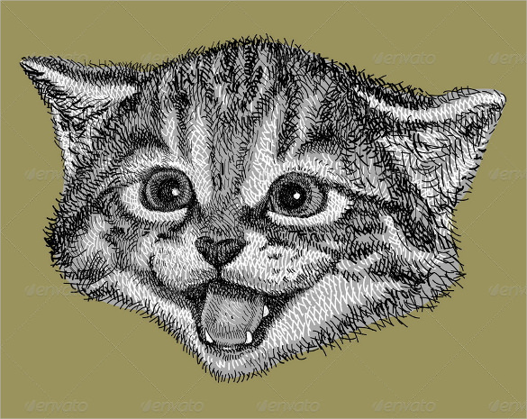 585x465 Cat Drawings Template Free Pdf Documents Format Download