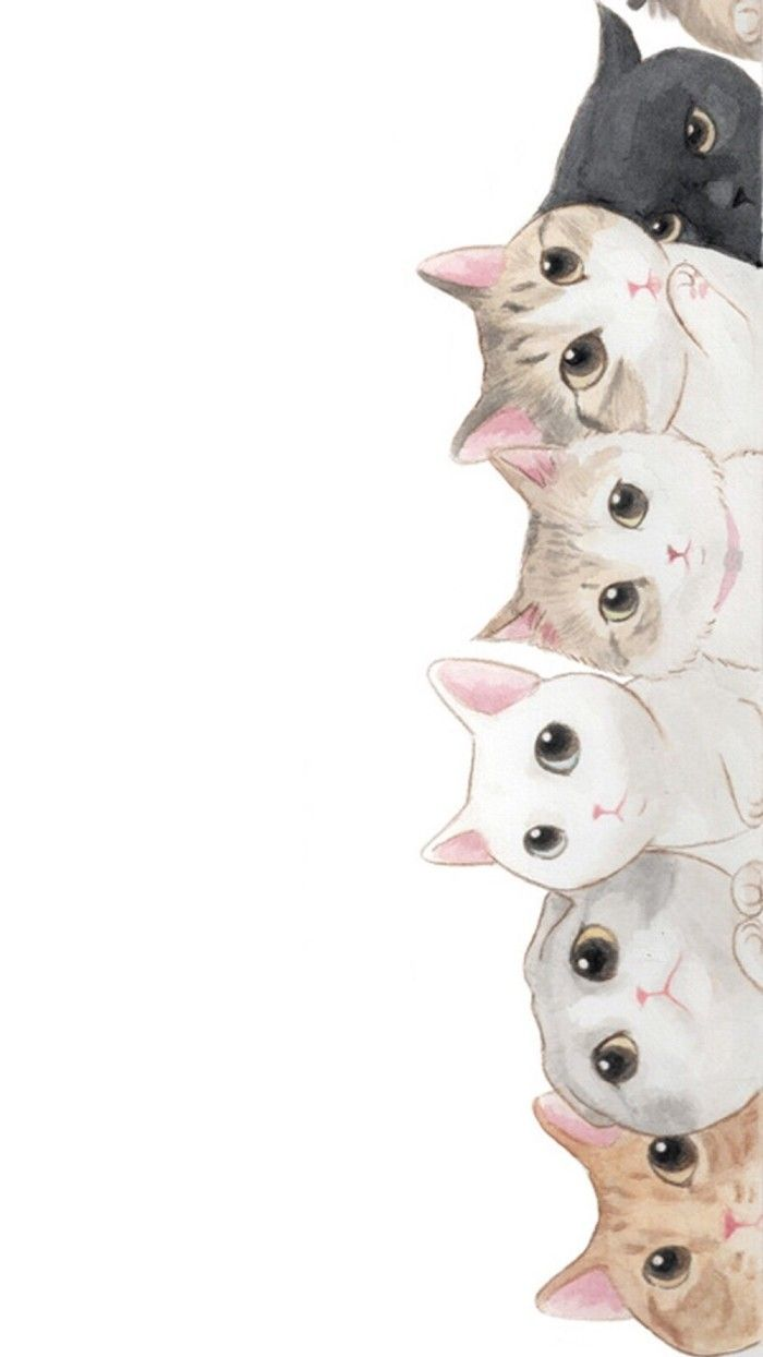 Wonderful Cat Wallpaper For Your Phone - cat-drawing-wallpaper-63  Graphic_866551 .jpg