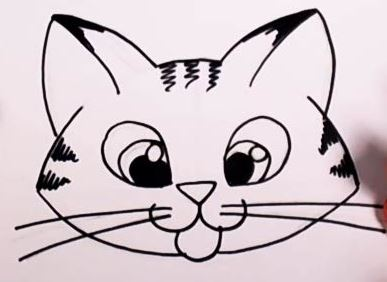 Cat Easy Drawing At Getdrawings Com Free For Personal Use Cat Easy