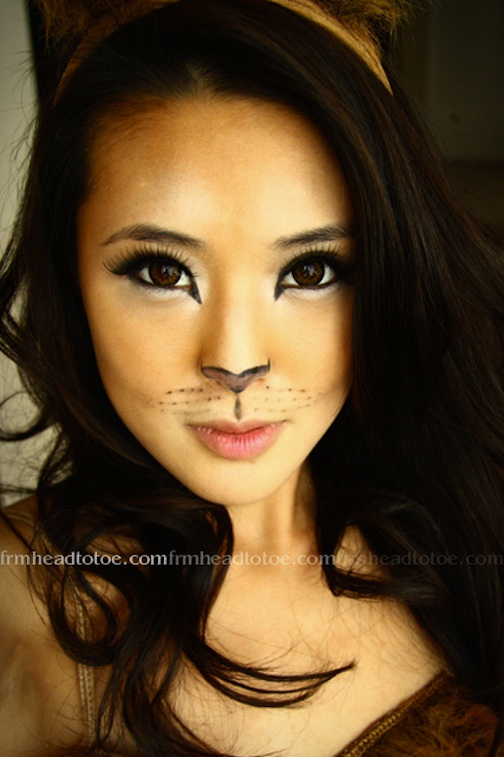 Cat Face Drawing For Halloween At Getdrawingscom Free For - Cat-costume-makeup