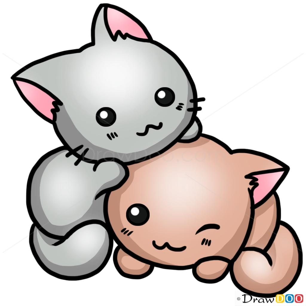 1024x1024 Cute Cat Drawing Hd Desktop Background