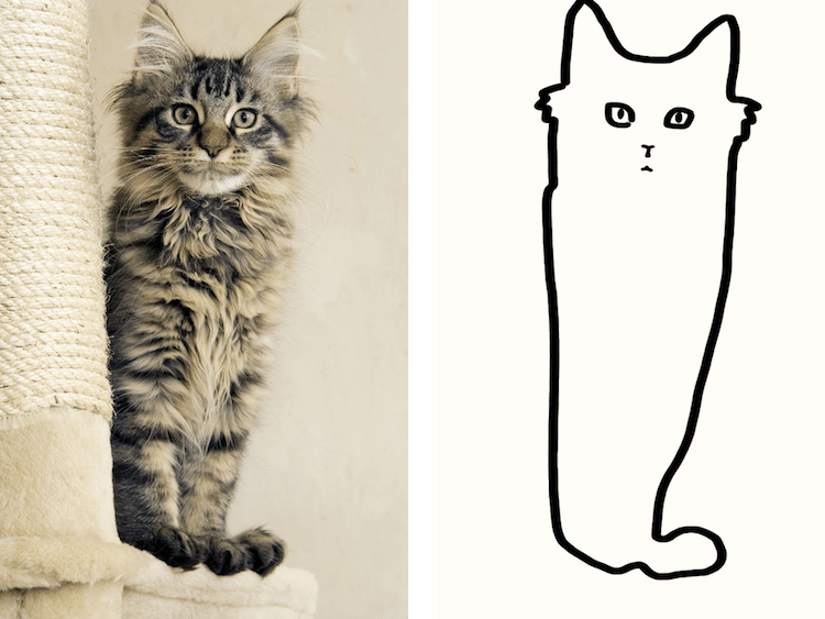 750x563 Minimal Cat Art Is A Subreddit Where People Share Their Simple Cat