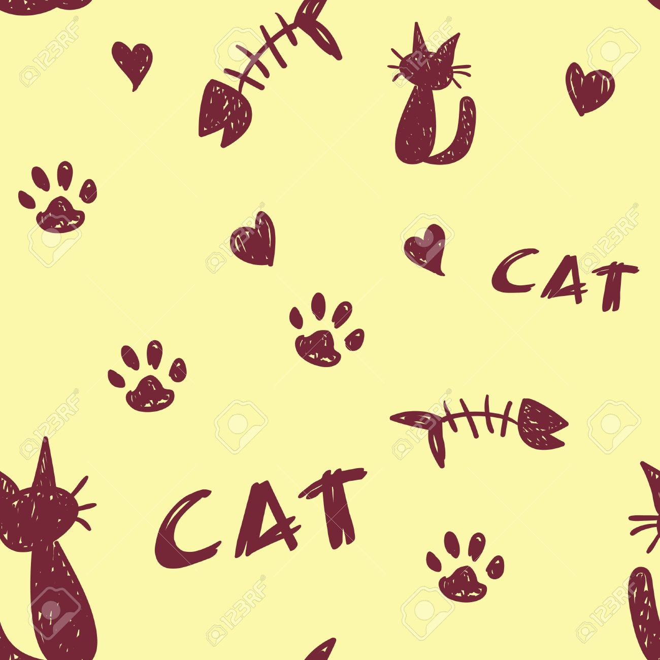 Cat Paw Print Drawing at GetDrawings.com | Free for personal use Cat ...