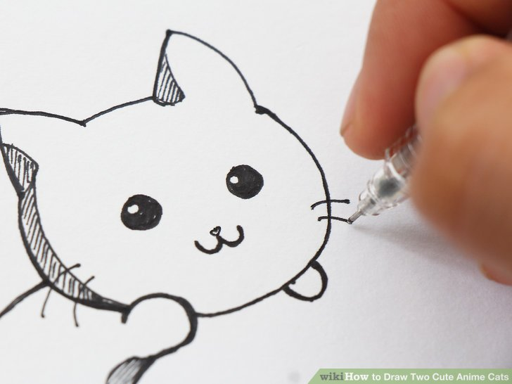 728x546 How To Draw Two Cute Anime Cats (With Pictures)
