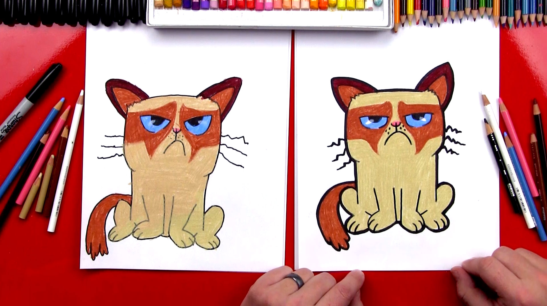 1914x1070 How To Draw Grumpy Cat