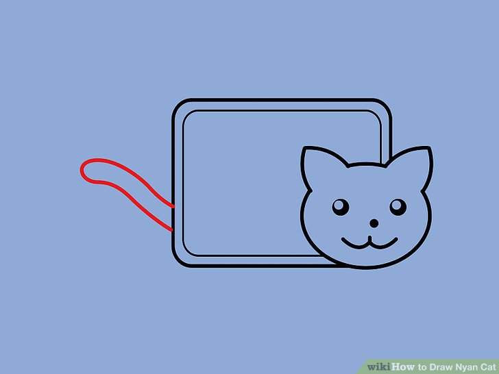 728x546 How To Draw Nyan Cat 10 Steps (With Pictures)