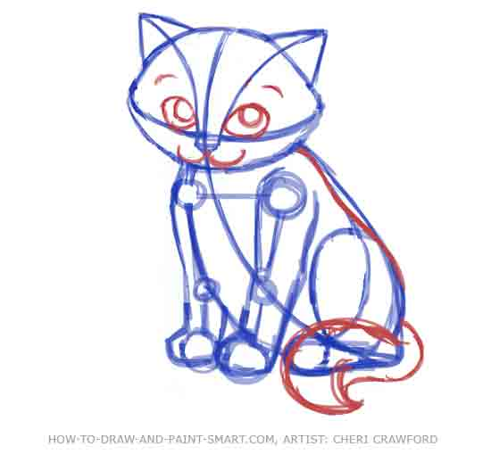 550x509 To Draw A Cat