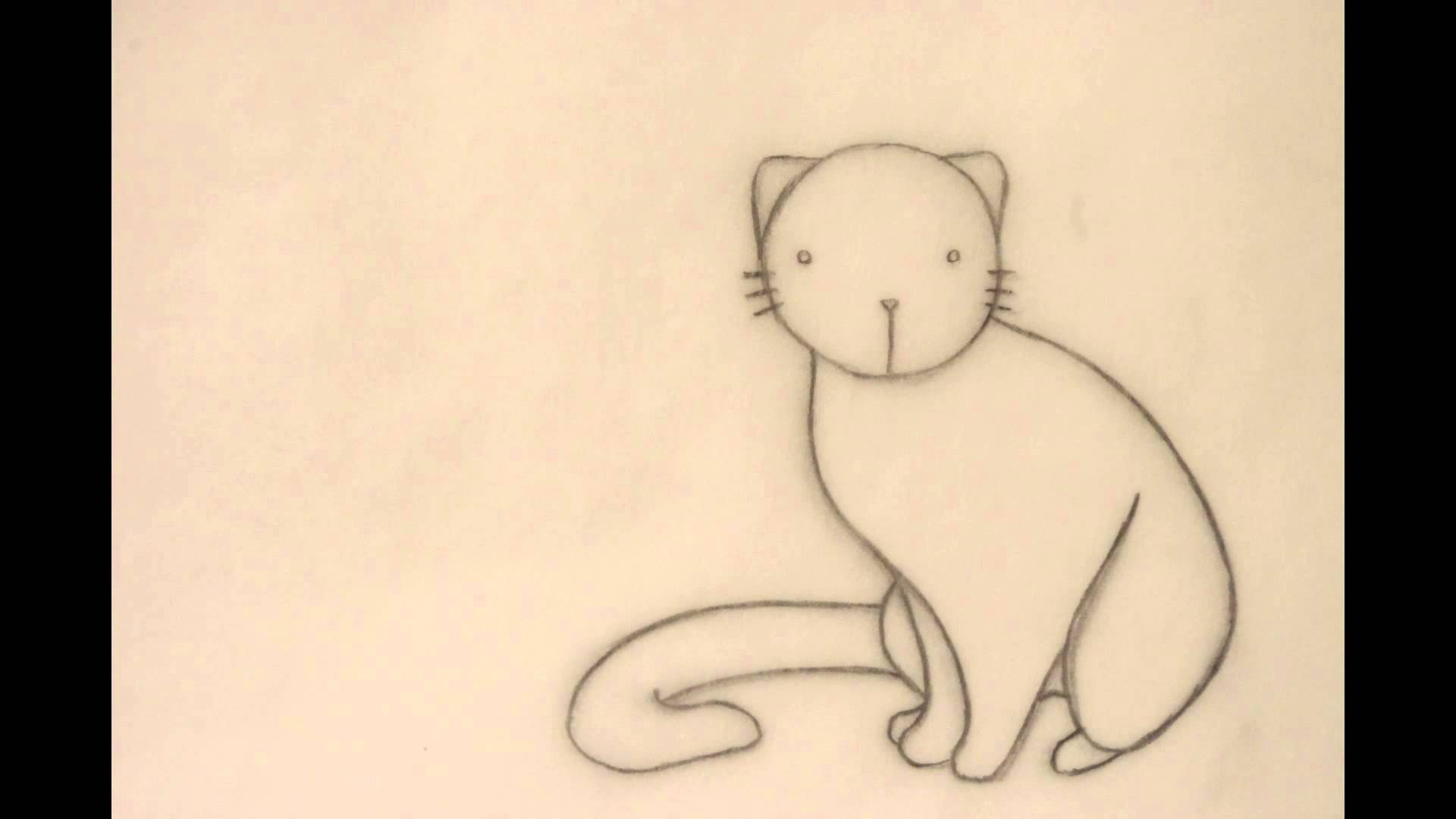 1920x1080 How To Draw A Cat Sitting On Its Bum