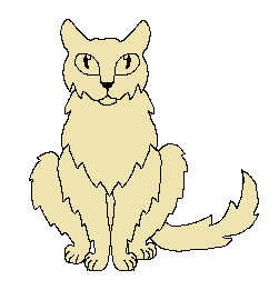 251x270 Semi Anime Sitting Cat Template Front View By Warriorcatsandponies