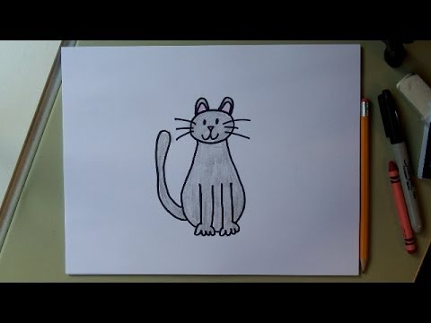 480x360 How To Draw A Cat Step By Step! Easy Cat Drawing Tutorial For Kids