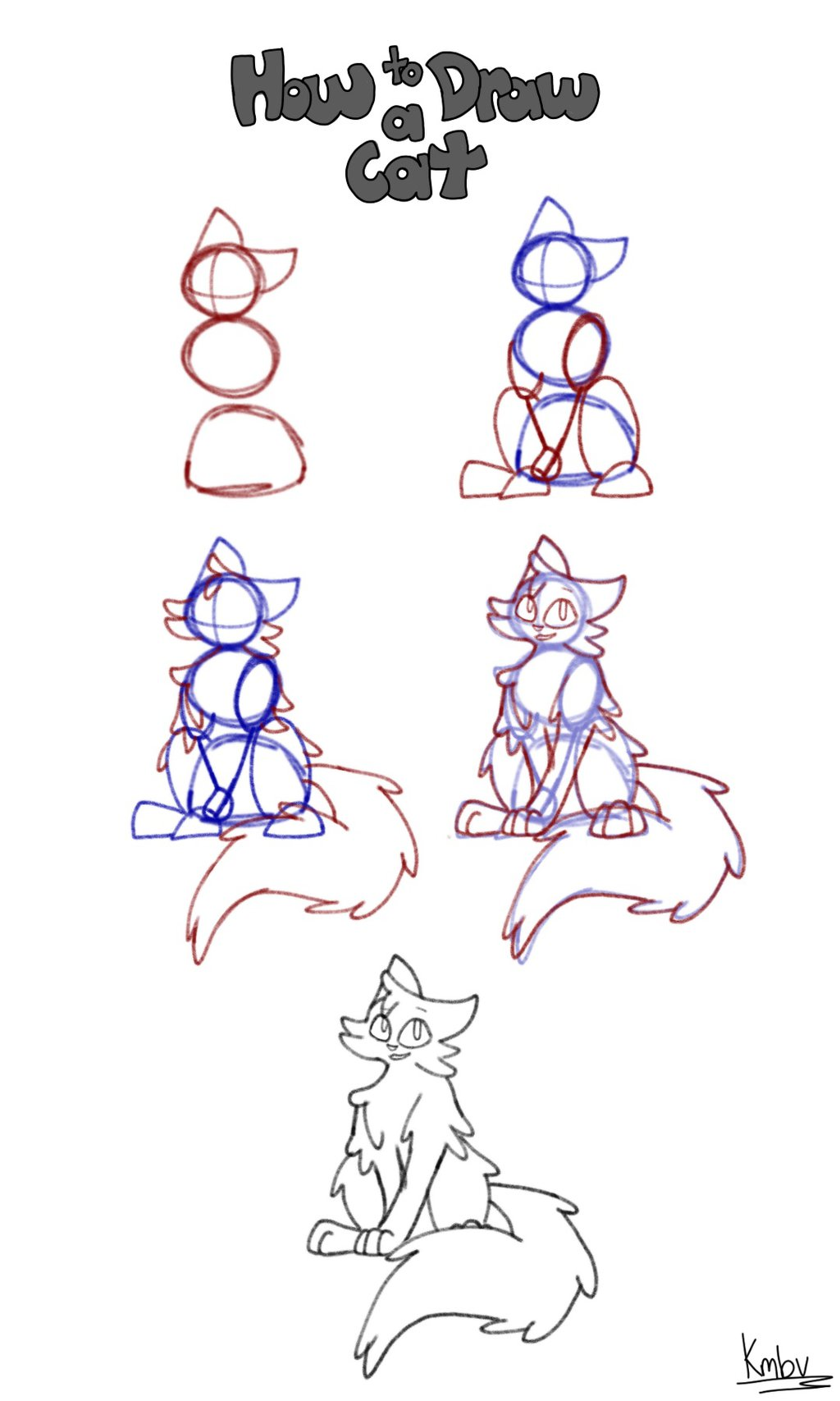 1024x1707 How To Draw A Cat Step By Step By Hawklynx