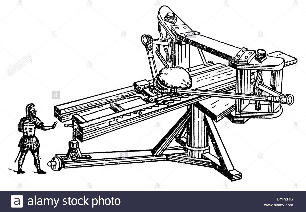 Catapult Drawing At Free For Personal Use Engineering Schematics 1300x901 Ancient Artillery Illustration From Soviet Encyclopedia
