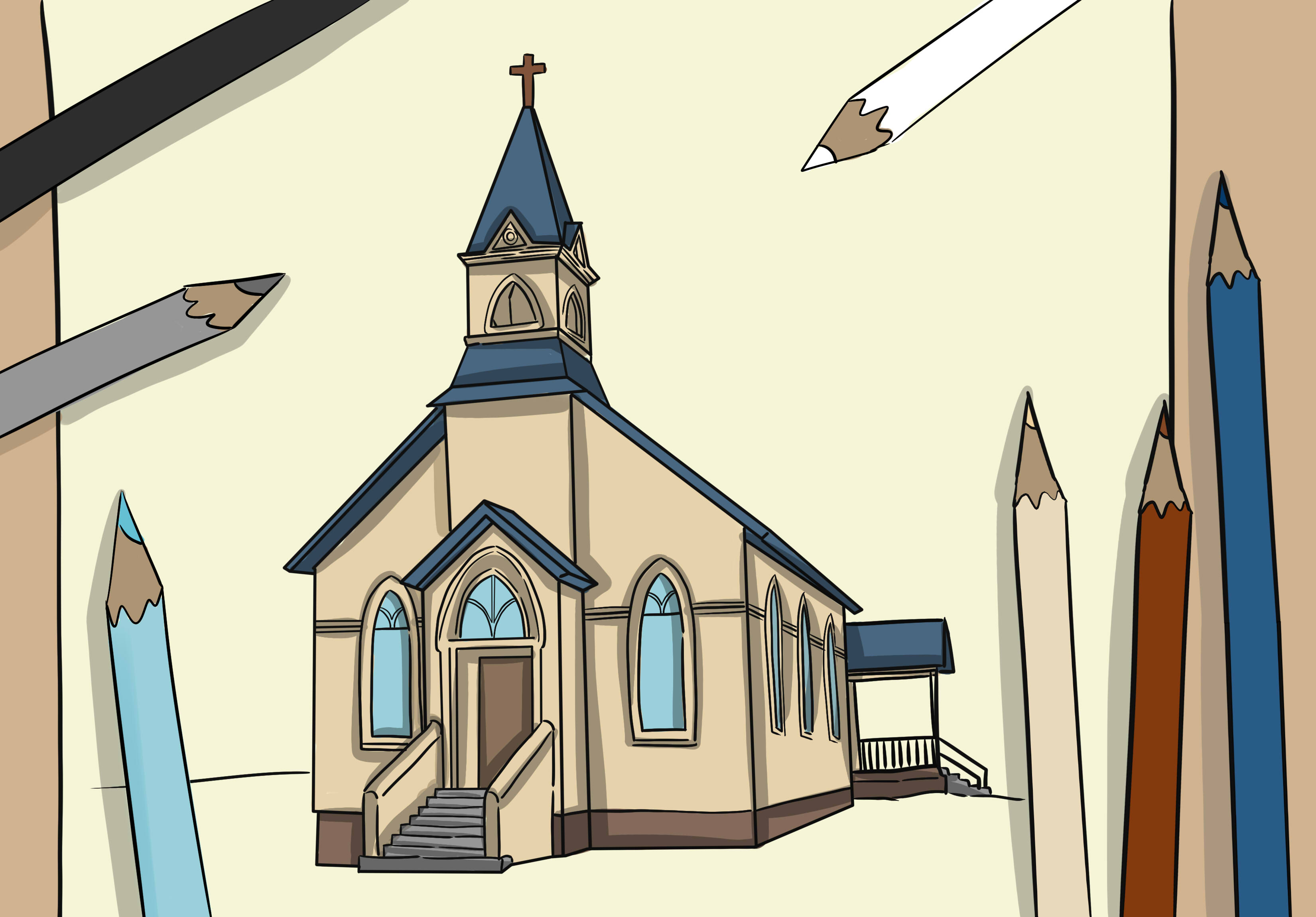 3300x2300 How To Draw A Church 8 Steps (With Pictures)