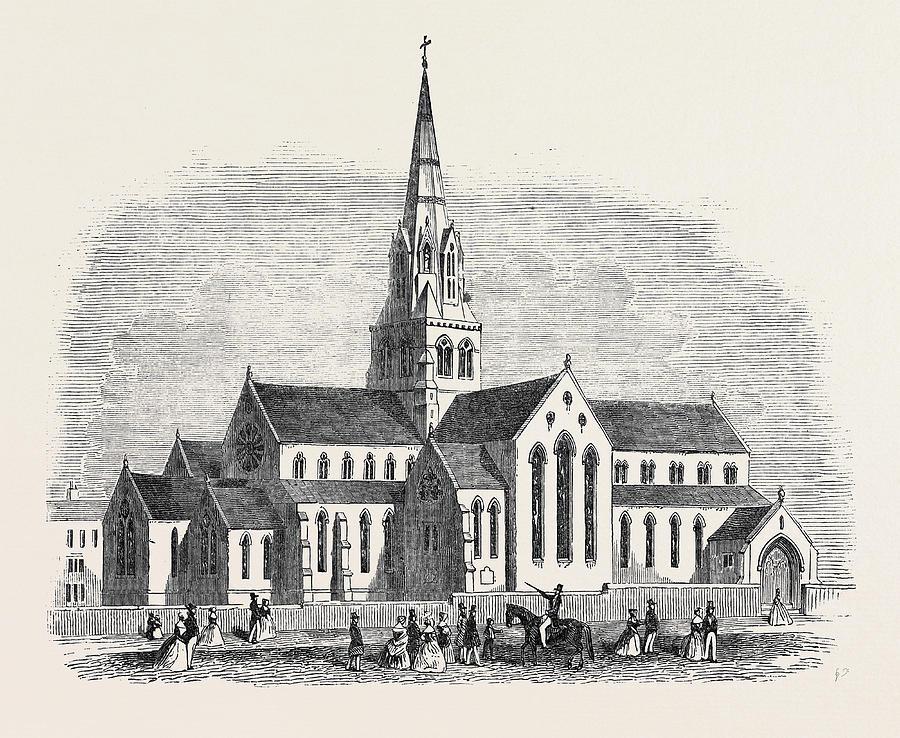 900x738 St. Barnabas Catholic Church Drawing By English School