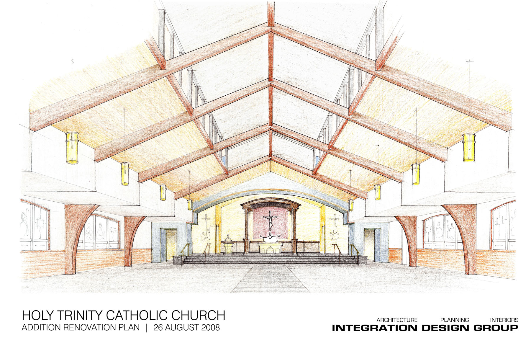 1800x1145 Townhall Ii Inside The New Church Holy Trinity Catholic Church