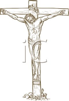 240x350 Drawing Of Christ On The Crucifixion Cross