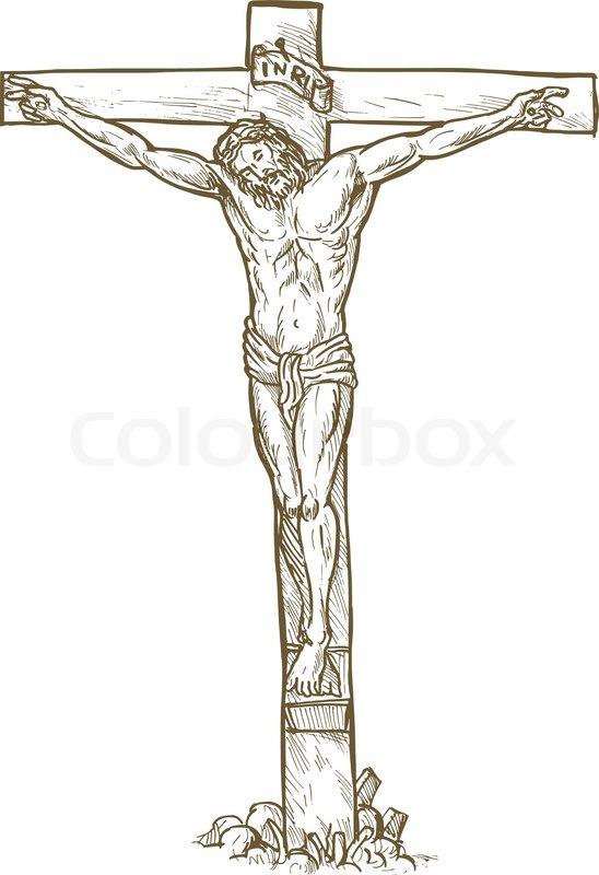 548x800 Jesus Hand Draw Stock Vector Colourbox