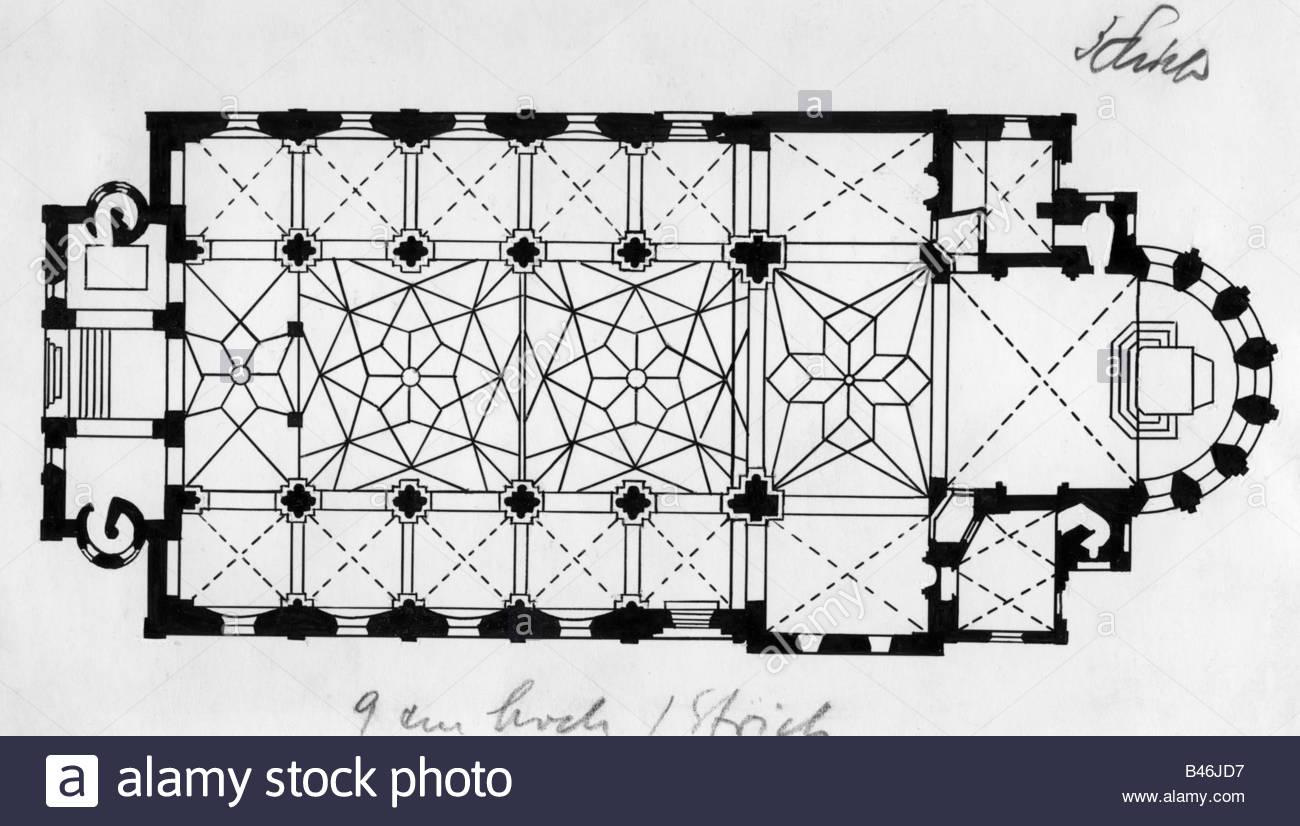 1300x826 Architecture, Floor Plans, Saint Castor, Built 817