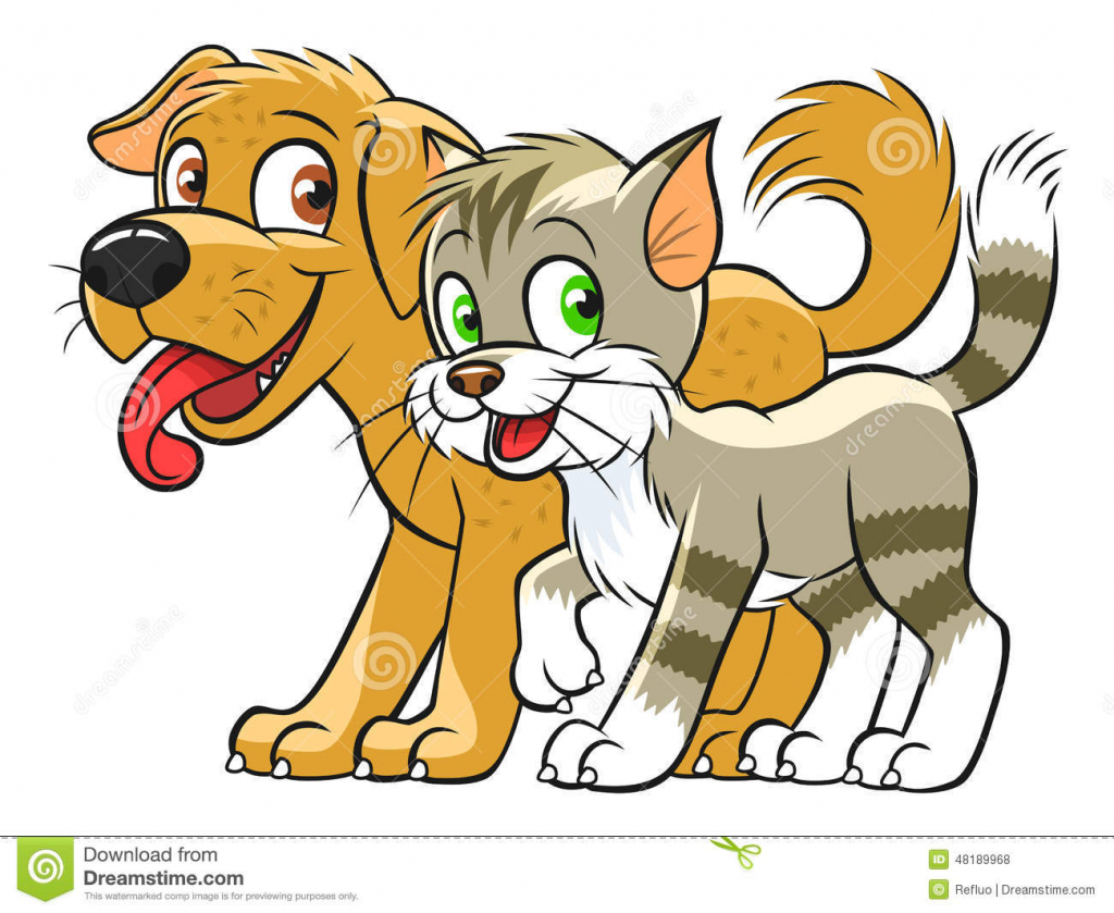 1024x839 Cartoon Drawings Of Dogs And Cats Cartoon Dog And Cat Clip Art