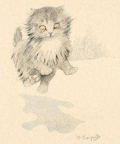 236x282 1911 Matted Antique Kitten Print By Oliver Herford