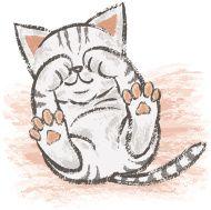 190x189 Love The Kitty Glee! Drawing Paintbrush Cats By Toru Sanogawa, Via