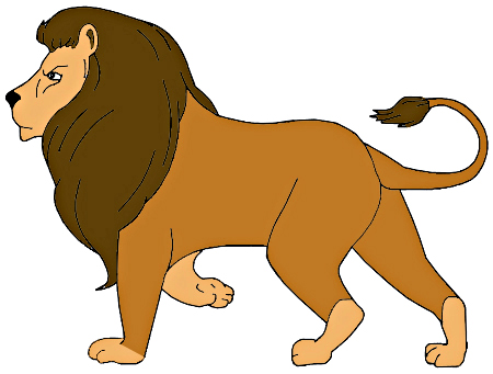 450x341 How To Draw A Lion For Kids
