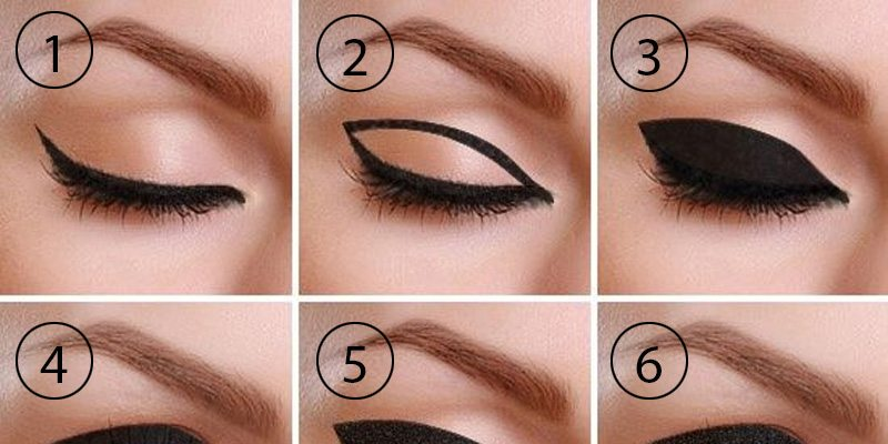 800x400 Master The Art Of Drawing Thick Cat Eye Eyeliner. Trend Crown