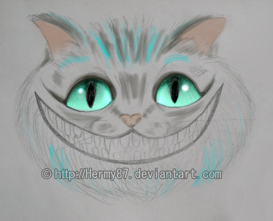 900x729 Cheshire Cat Sketch By Hermy87