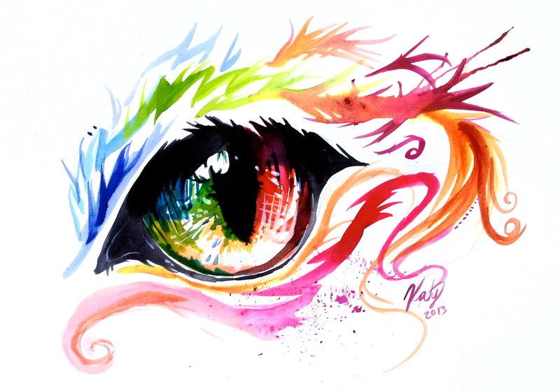 800x561 Rainbow Cat Eye By Lucky978