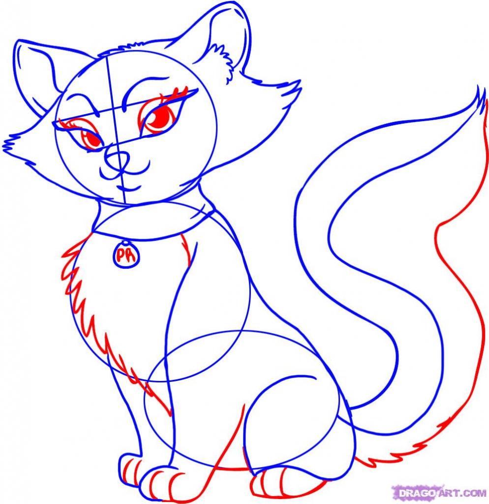 994x1024 Drawing Cartoon Cats How To Draw A Cartoon Cat Step Step Cartoon